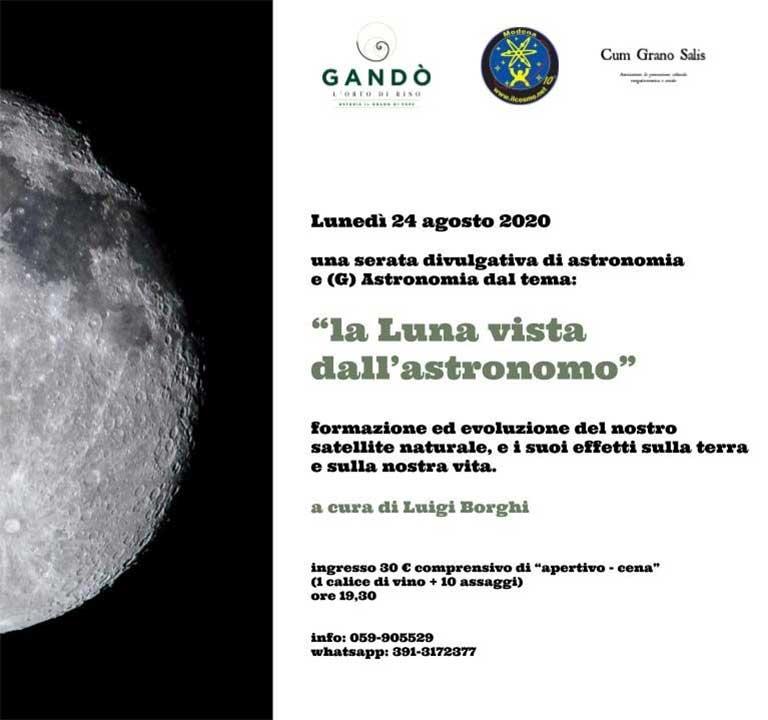La Luna vista dall'Astronomo