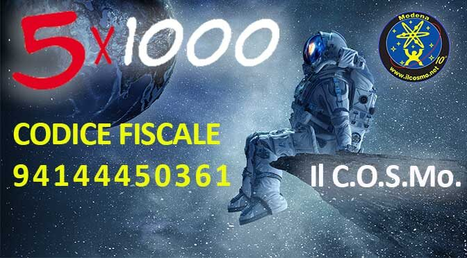 Destina il tuo 5X1000 al cosmo